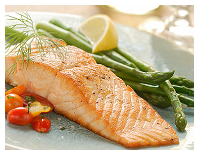 baked salmon with asparagus and cherry tomatoes
