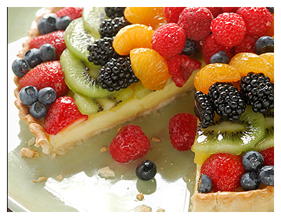 fruit tart with berries