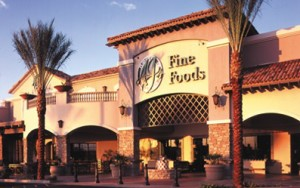 front of aj's fine foods store