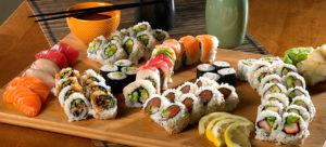 sushi and sashimi platter