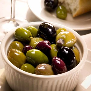 cup of olives