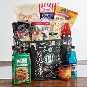 AJ's tote gift basket