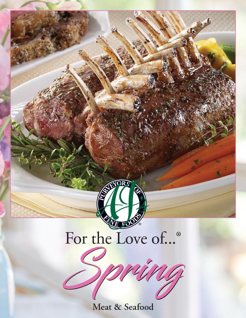 AJ's logo Spring Meat and Seafood Features