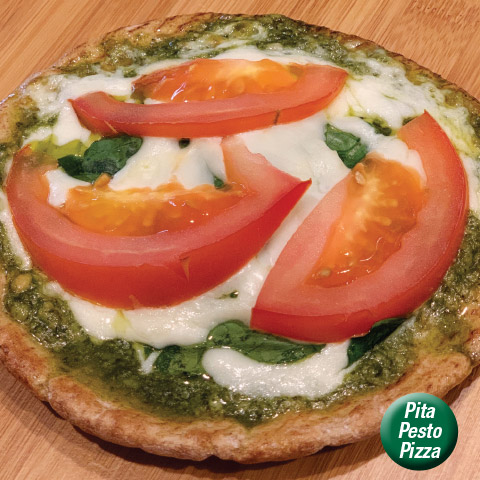 Pita Pesto Pizza